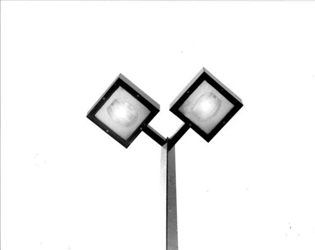 Pouliční lampa s výbojkami