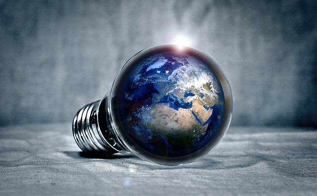 planeta Země v žárovce